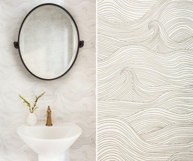moderne Wellenmuster wände  badezimmer ideen