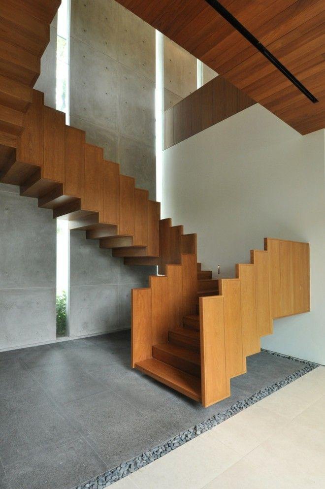 moderne holz treppen design