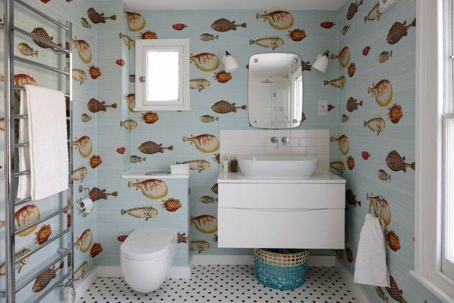 schöne tapeten Tropische Fische badezimmer