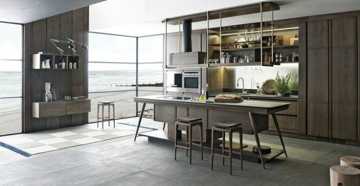 tendige Küchengestaltung hochwertige Materialien Naturholz