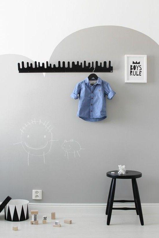 Wolkenförmige Wandgestaltung Im Kinderzimmer Selbst Streichen