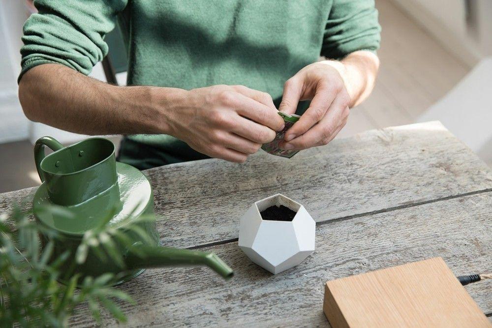 der schwebende blumentopf lyfe ein toller akzent in der modernen wohnung. Black Bedroom Furniture Sets. Home Design Ideas