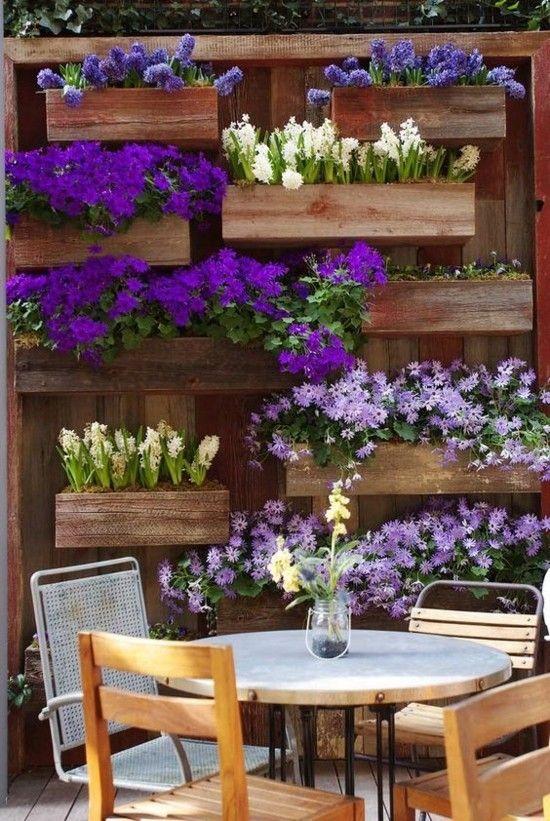 Blumentopf balkon wand dekoration garten