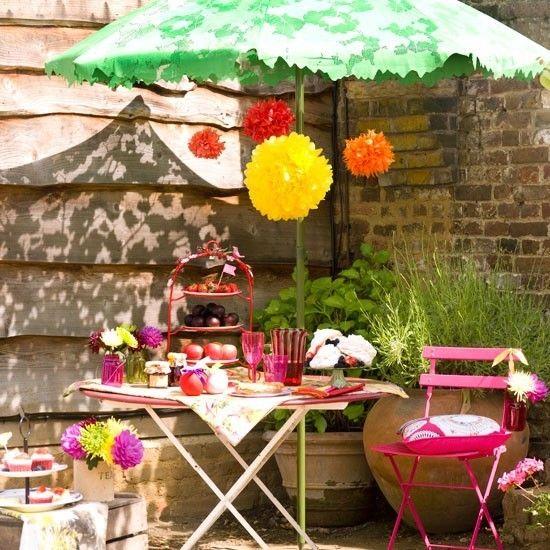 Bunte Ideen für Gartenmöbel Dekoration