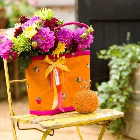 Chöne Blumentasche