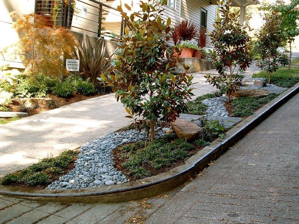 Gartengestaltung Dekoration aus Steinen kreative Ideen