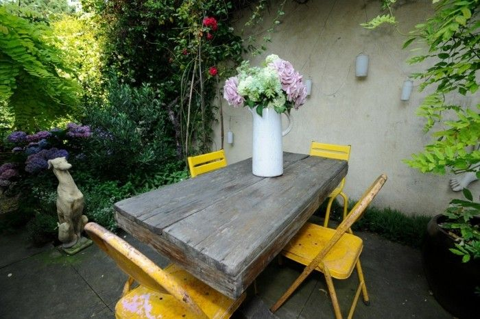 Gartenstuh gelb ideen