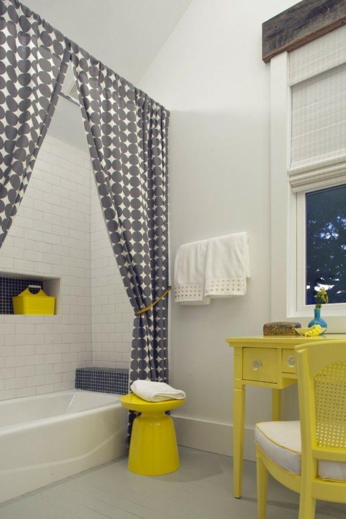 Gelb badezimmer retro stuhl