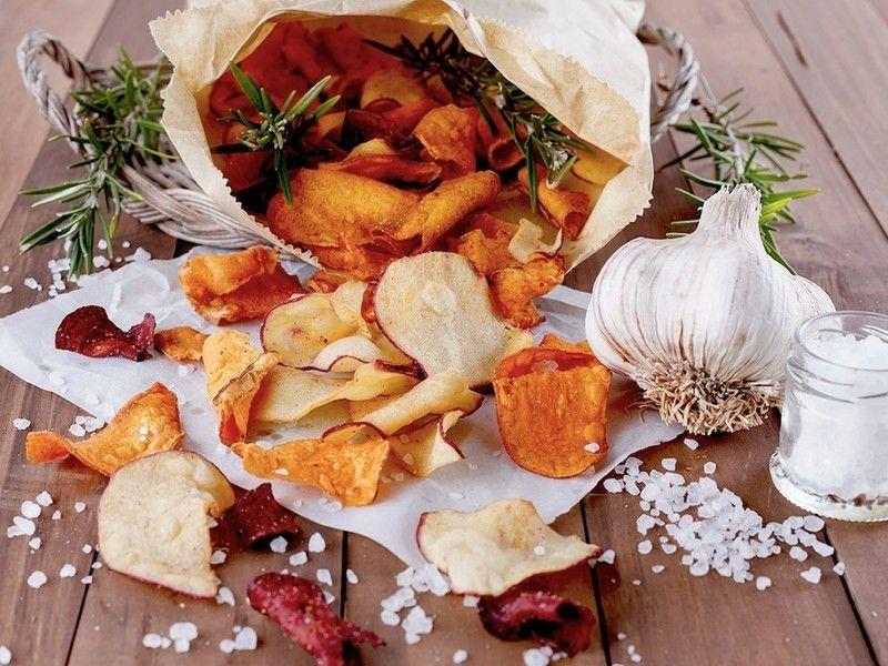Gesunde Ernährung Gemüse-Chips