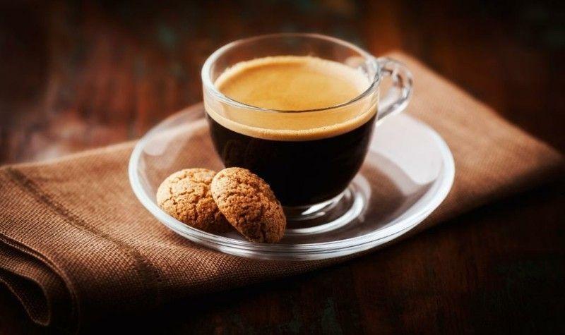 Gesunde Ernährung Kaffee mit Plätzchen