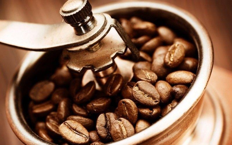 Gesunde Ernährung Kaffeebohnen Kaffeemühle