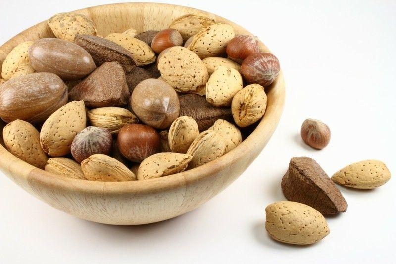 Gesunde Ernährung Tisch Deko Nüsse