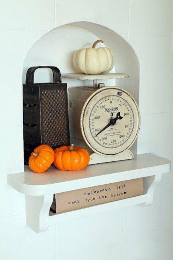 Herbst Dekotipps Mini orange Kürbisse