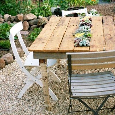 Holztisch Garten Modern ideen