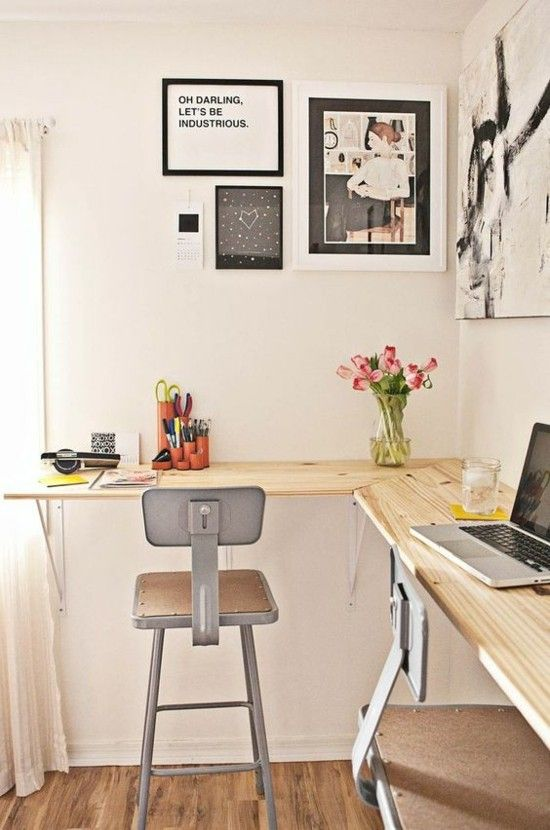 Home Office schlichtes Design Wanddeko