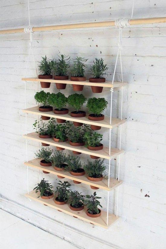 Ideen für Terrassengestaltung Vertikaler Wand Regal Ideen