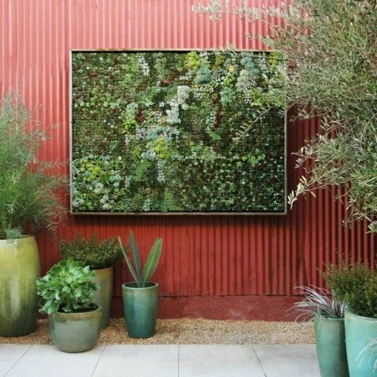 Ideen für den Garten vertikaler garten