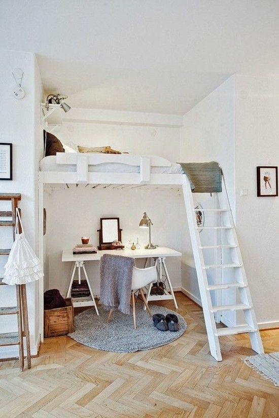 Jugendzimmer Home Office Schreibtisch unter dem Bett