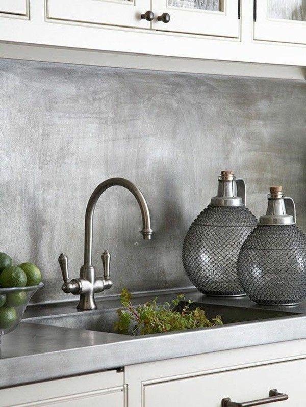 Küchenspiegel Edelstahl fein matt Küche edle Optik