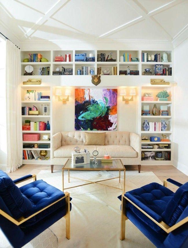 Luxus wohnzimmer bücherregal