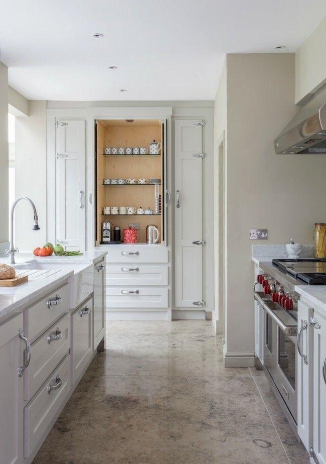 Marmor Boden klassische Küche moderne Einrichtungsideen