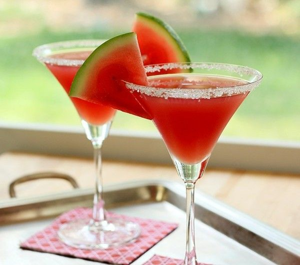 Melone Martini Party Ideen Sommerfest