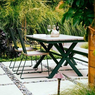 Modern Holztisch für Terrasse Garten