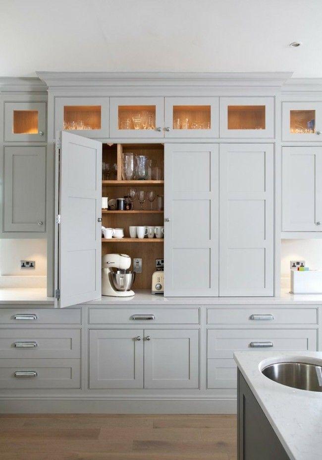 Moderne Einrichtungsideen Küche klassisch weiße Schränke