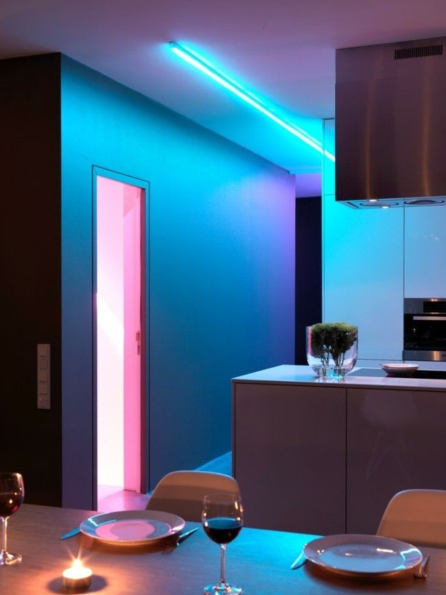 Moderne Küche LED Beleuchtung Einrichtungsidee