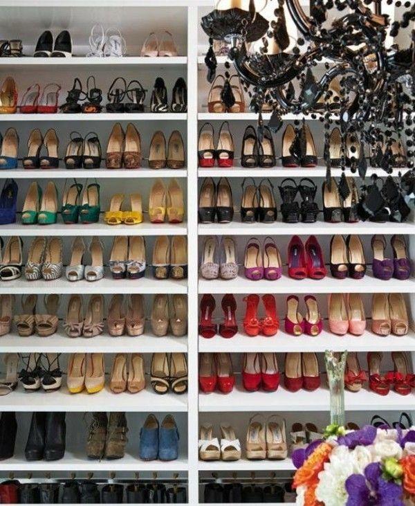 Schuhe Kommode Weiß Hochglanz