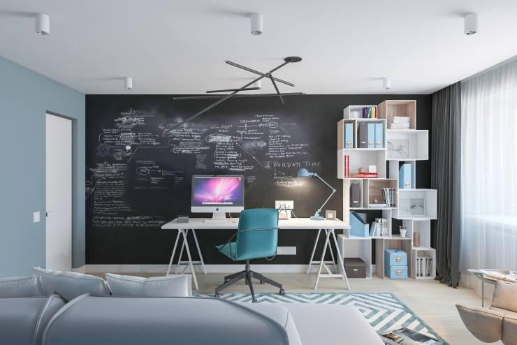 Schwarze Tafel Heimbüro Office Organisation Wandredale