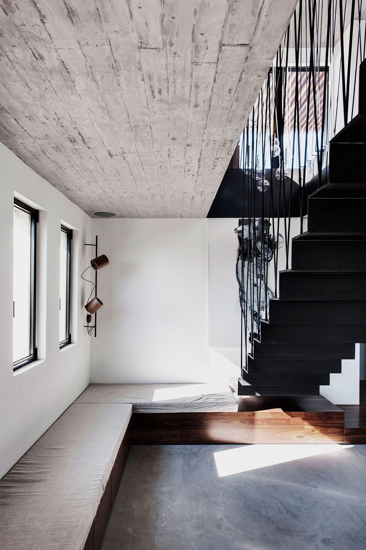 Sitzbank gepolstert Innengestaltung in modernem Stil