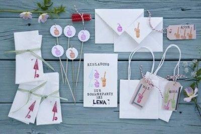 Sommerfest Tischschilder selbstmachen Geschenkideen für die Gäste