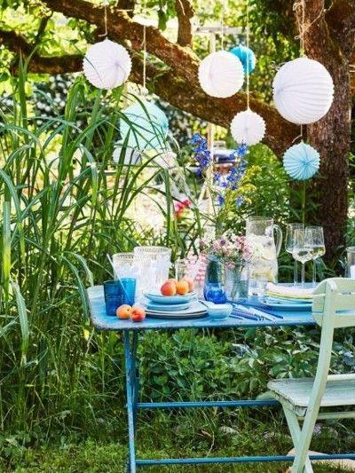 Sommerfest Im Garten Deko Ideen Papierlaternen