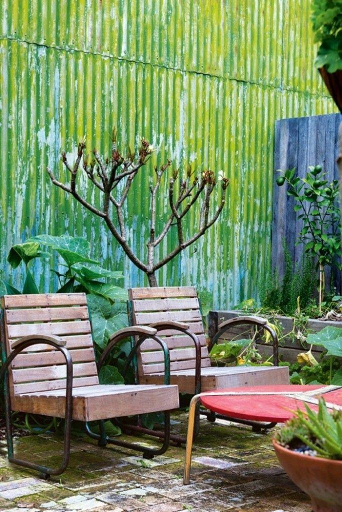 Terrasse Garten Möbel Landhausstil Metall