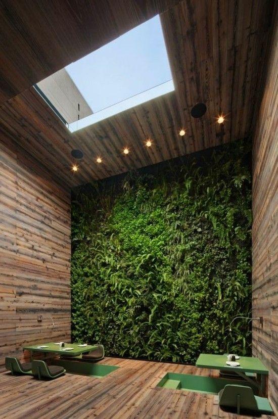 Vertikale Gärten Holz deko ideen Zimmerpflanzen