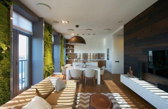 Vertikaler Garten kueche wohnzimmer modern