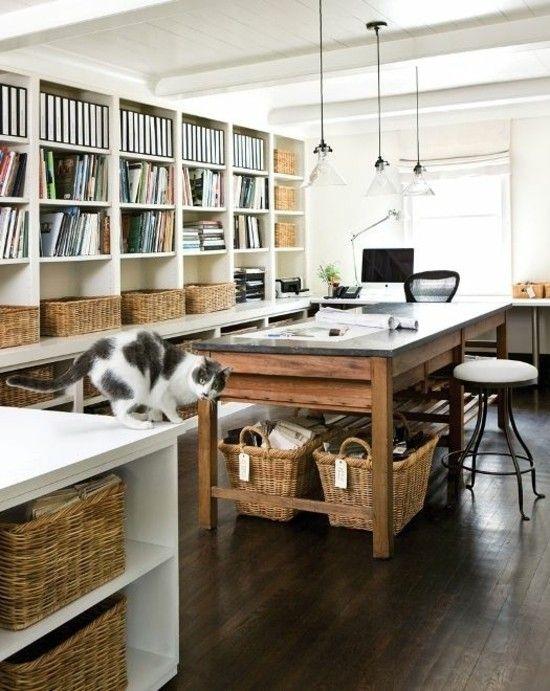 Wandregal Schreibtisch Holz Home Office