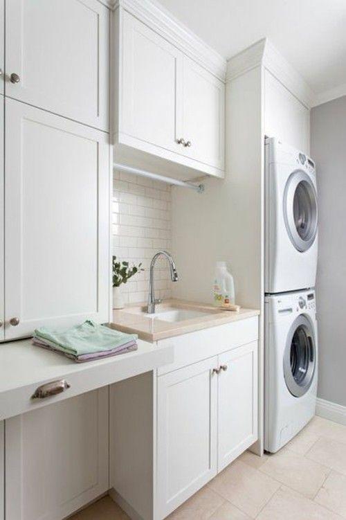 Waschküche vertikale Positionierung der Geräte