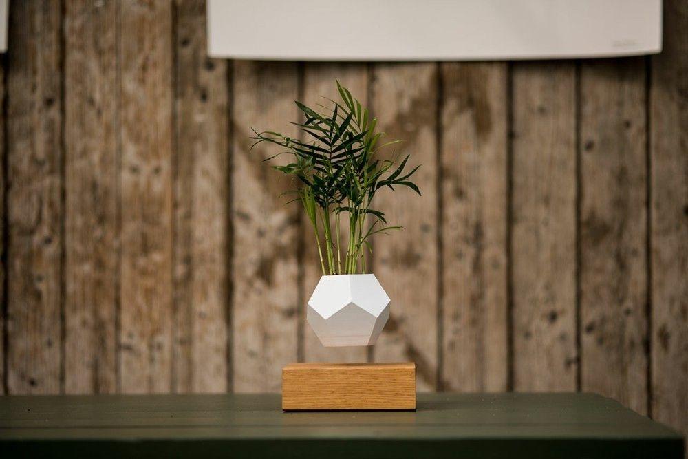 Wohnzimmer Deko Ideen levitierender Blumentopft