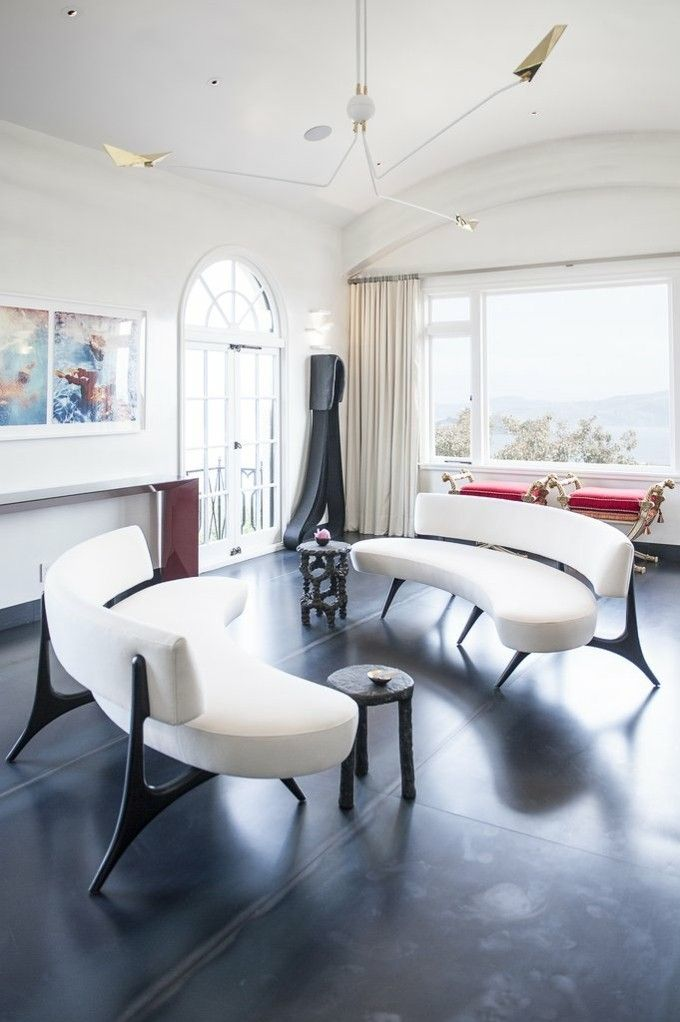 Wohnzimmer trendige Einrichtungsideen schlichtes Design