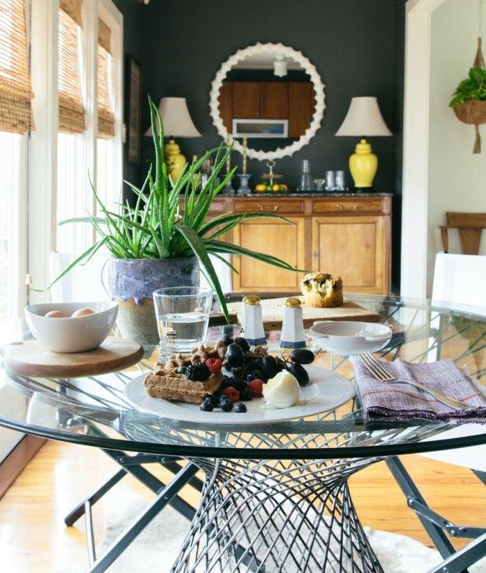 Zimmerpflanzen Echte Aloe Esszimmer Tischdeko