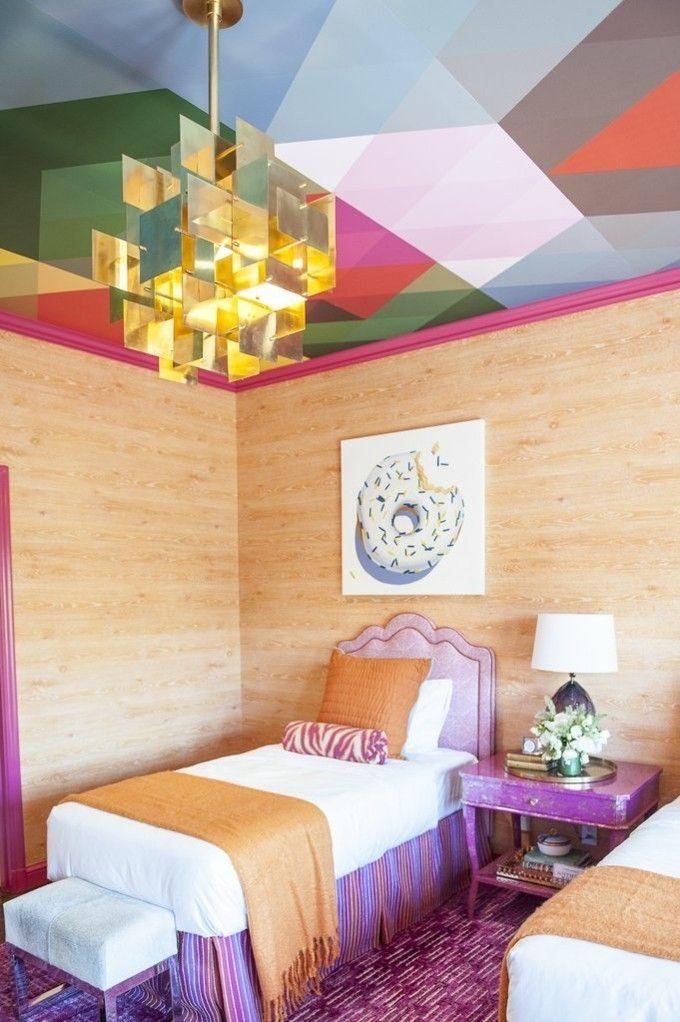bunte Decke geometrische Muster trendige Einrichtungsideen