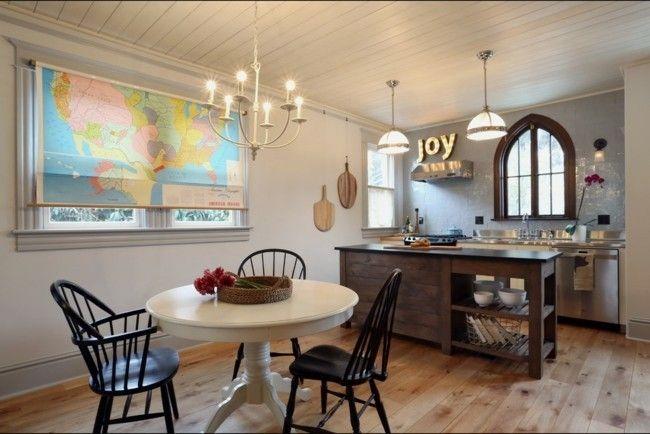eklektische Küche Einrichtungsideen Holzboden