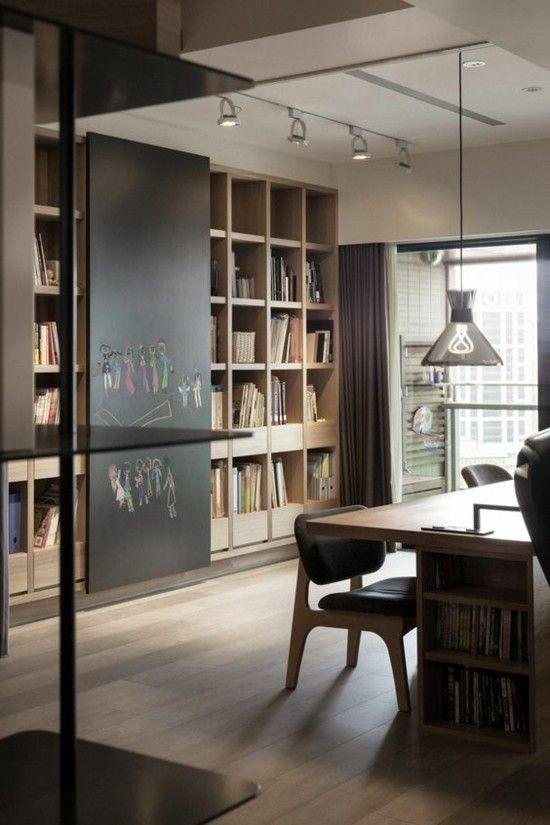 modernes Home Office gestalten Kreidebrett