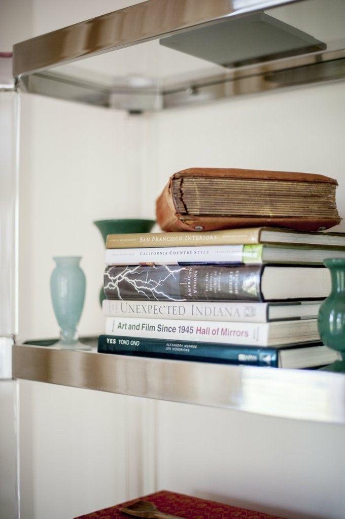 trendige Einrichtungsideen Deko Bücher