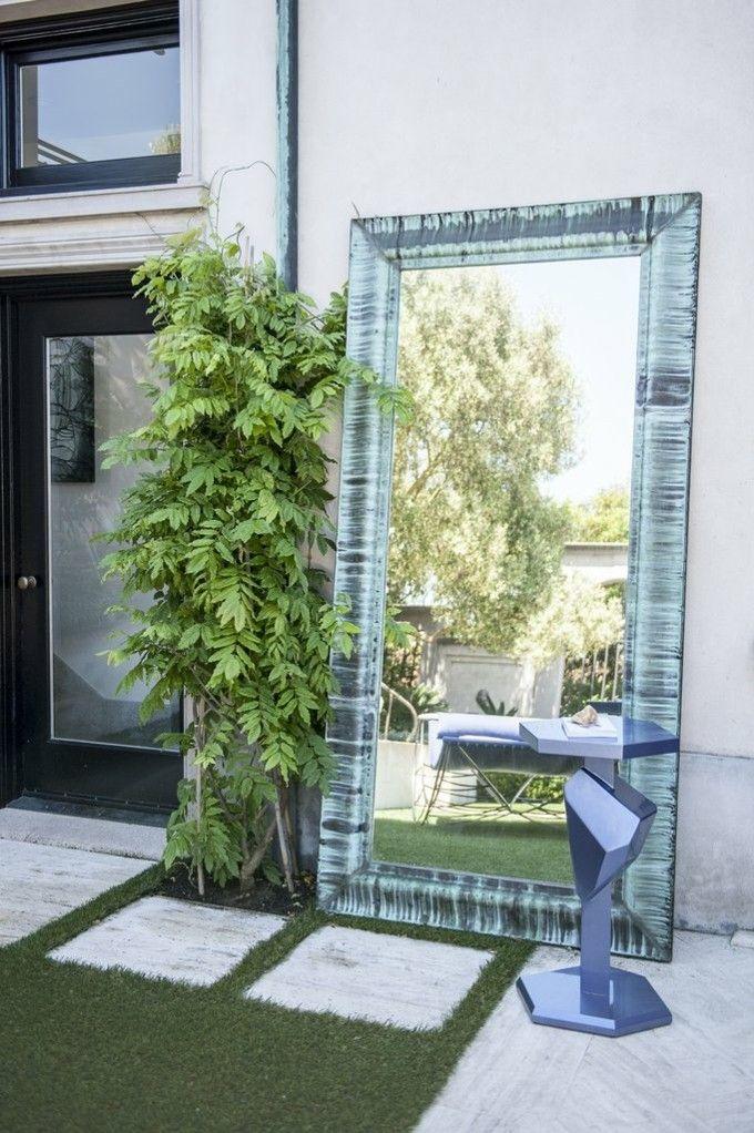 trendige Einrichtungsideen großer Spiegel im Garten Deko Außenbereich