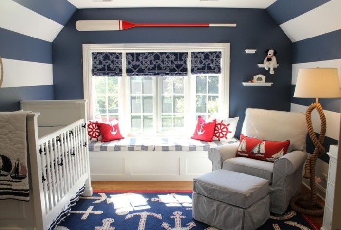 babyzimmer-maritim-einrichtungstipps-blaue-wandgestaltung