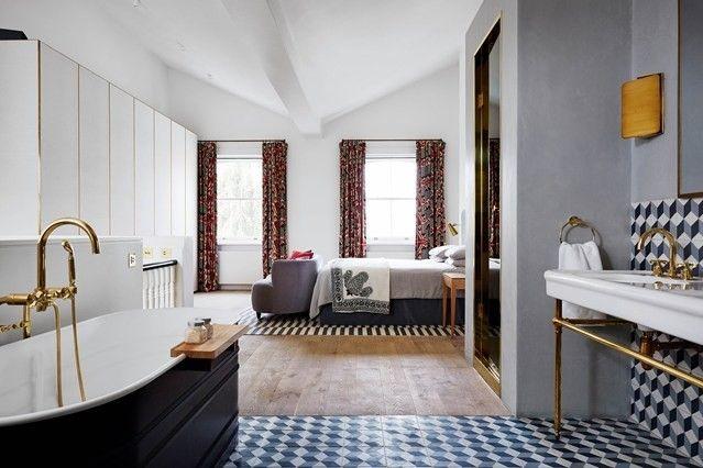 badewanne-geometrische-fliesen-3d-schlafzimmer-modern