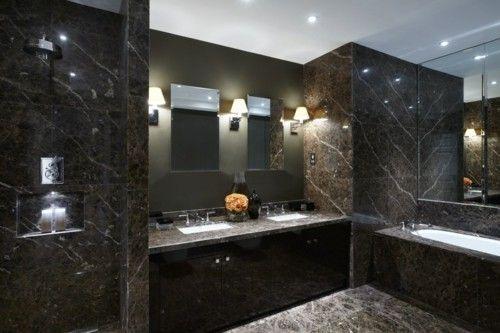 Delicieux Badezimmer Spiegelschrank Marmor Schwarz